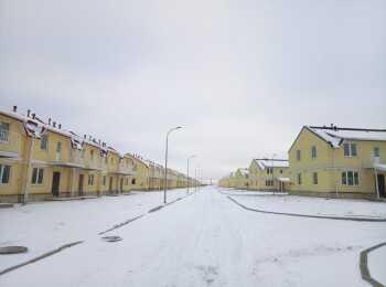 Панорама корпусов зимой